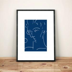 certains-avaient-la-peau-bleue4-cadre-serigraphie-illustration-nantes-monochrome-sarah-nyangue-saratoustra