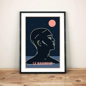 le-baigneur-print-cadre-illustration-nantes-sarah-nyangue-saratoustra