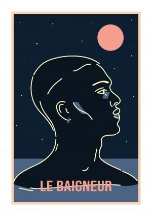 le-baigneur-print-illustration-art-nantes-sarah-nyangue-saratoustra
