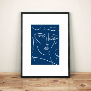 certains-avaient-la-peau-bleue3-cadre-serigraphie-illustration-nantes-monochrome-sarah-nyangue-saratoustra