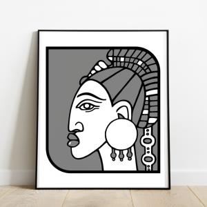 l-amante-cadre-serigraphie-afrique-illustration-nantes-sarah-nyangue-saratoustra