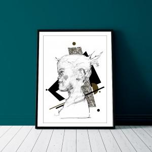 l-espeglerie-cadre-a3-illustration-riso-sarah-nyangue-saratoustra