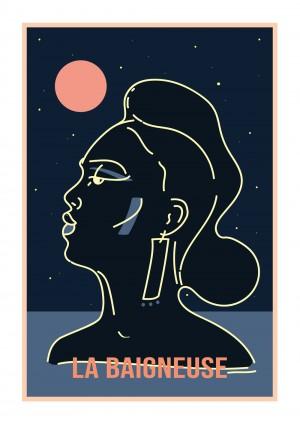 la-baigneuse-print-illustration-art-nantes-sarah-nyangue-saratoustra