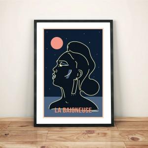 la-baigneuse-print-cadre-illustration-nantes-sarah-nyangue-saratoustra