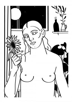 le-tournesol-blanc-serigraphie-illustration-nantes-sarah-nyangue-saratoustra