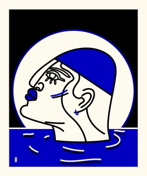 nageur-serigraphie-illustration-art-sarah-nyangue-saratoustra-nantes