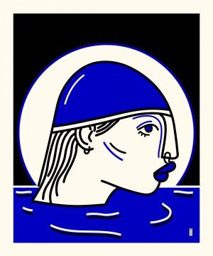 nageuse-serigraphie-illustration-art-sarah-nyangue-saratoustra-nantes