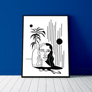 regard-interieur-serigraphie-illustration-cadre-nantes-sarah-nyangue-saratoustra
