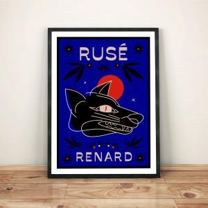 ruse-renard-cadre-print-illustration-nantes-sarah-nyangue-saratoustra