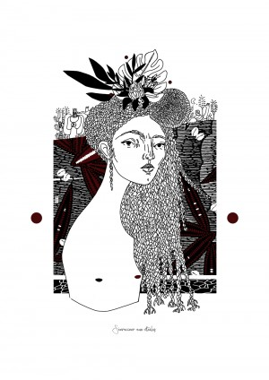 s-enraciner-aux-etoiles-serigraphie-illustration-art-sarah-nyangue-saratoustra-nantes