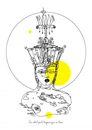 soleil-interieur-riso-illustration-deesse-nantes-sarah-nyangue-saratoustra