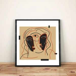trois-quart-face-cadre-illustration-nantes-print-deco-sarah-nyangue-saratoustra